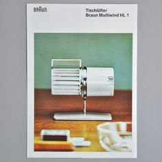 Vintage Braun Brochure #braun #german #design #brochure