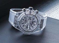 Hublot Unveils Big Bang Unico Sapphire Watch #Hublot #Sapphire #BigBang