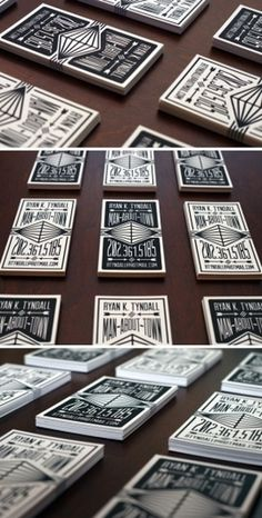 Black & White Letterpress | Business Cards Observer