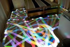 Light Painting with Roomba Vacuum Cleaners | Colossal #roomba #light #drawing #painting