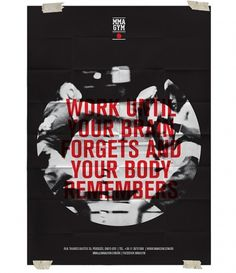 MMA GYM SÃO PAULO on the Behance Network #red #smma #empk #cartaz #gym #boxe #afiche #poster