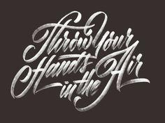 Hand lettering #type #script