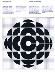 Burton Kramer — Canadian Broadcasting Corporation logo grid (1974) #design #poster