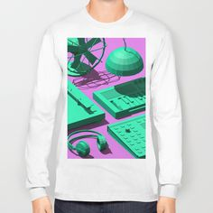 Low Poly Objects T-shirt at Søciety6 #3d #cgi #cg #cinema4d #render #studio #turntable #fan #cactus #synthesizer #music #dj #pendant #headp