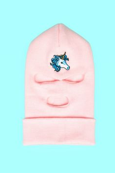 Opening Ceremony x Spring Breakers #pink #balaclava #hat #unicorn