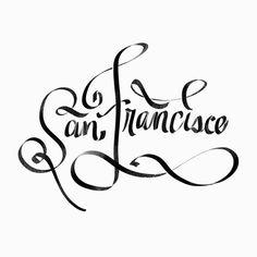San Fran | @spencerventure | spencerventure.com #lettering #handdrawn #logo #letterforms #penandink #ink #digital #blackandwhite #brushlett