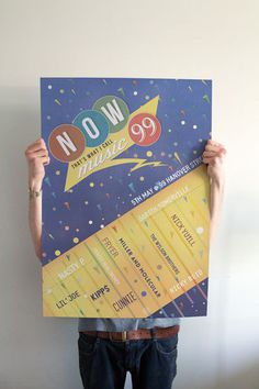 'Now thats what I call music' inspired print #hanover #print #retro #vintage #poster #80s #music #99 #virgin