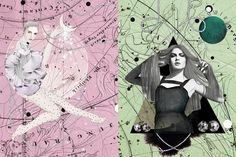 libra-viergo-balance-2012-coco-illustration.jpg (JPEG Image, 800 × 533 pixels) #illustration #zodiac #maps