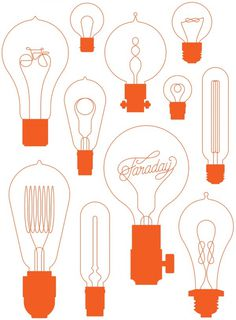 About Us | Faraday Bicycles #illustration #vector #script #bulbs