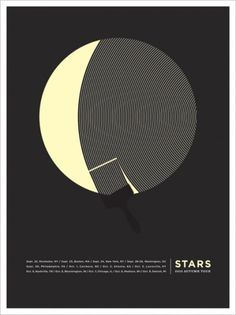 JASON MUNN - Stars - Poster #screenprint #jason munn #stars