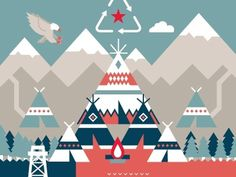 Dribbble - Department of Interior by Ricky Linn #illustration #design #geometric