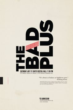the bad plus #typography