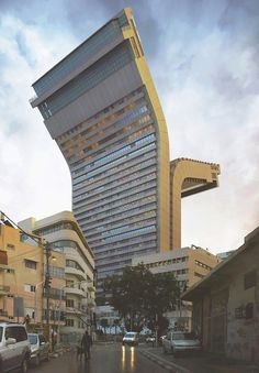 Crazy Architecture in Tel Aviv by Victor Enrich #photo #tel #aviv #architecture #manipulation #israel