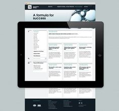 Tablet design - Argentum Group by Ascend Studio #website #responsive #legal #tablet