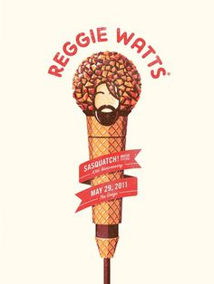 DKNG Studios » A Tasty New Poster for Reggie Watts #inspiration #watts #design #illustration #poster