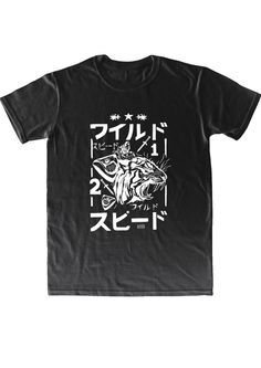"KFKS t-shirt ""Wild"" in black edition. #kfksstore #black #japanese #street #fashion #tshirt #style #wild"