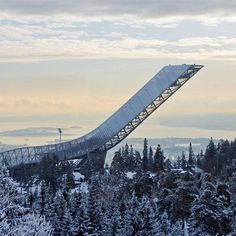 Dezeen » Blog Archive » Holmenkollen ski jump by JDS Architects opens