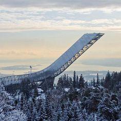 Dezeen » Blog Archive » Holmenkollen ski jump by JDS Architects opens