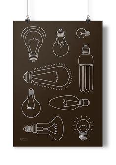 #lightbulb #another #bright #idea #black #white