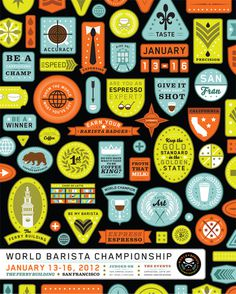 The World Barista Championship Thornographic Design #logo #poster #badge #barista