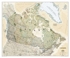 Canada-Executive-Map-Standard-Paper #canada #national #map #geographic
