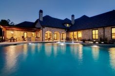 Custom Luxury Pool Design and Construction #home #landscape #night #pool #architecture #luxury