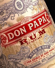 donpapa3.jpg (400×490) #packaging #design #booze #typography