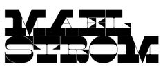FFFFOUND! | Klim / Lettering & Logotypes / Maelstrom #type #white #black #and