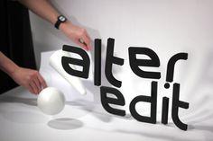Alter Edit by Mark Wilson #mark #font #logotype #branding #wilson #type #logo #identity #custom #graphics #typography