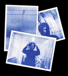 Single colour A6 postcard set for James Beattie. #monochrom