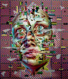 Justin Bower | PICDIT #design #paint #portrait #glitch #art #painting