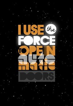 ignoto: The Force is with me #ignoto #wars #star #typography