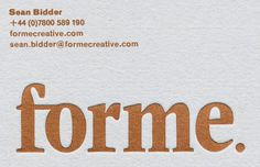 Forme #print #poster #logo #layout #typography