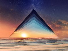Skylines #sunset #triangle