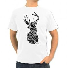 SZOLC - Deer T-shirt #deer #triangles #shirt