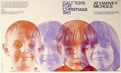 ken garland & associates:graphic design:galt toys #print #1960 #vintage #leaflet