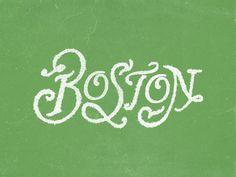 Boston #lettering