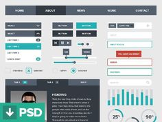 free_ui_kits_for_designers_28 #dashboard