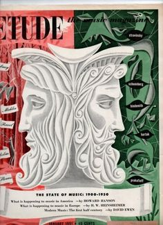 Design and Typography #etude #1951 #cover #illustration #editorial