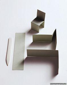 """Making """"Seating"""" Cards Martha Stewart Weddings Inspiration #furniture"""