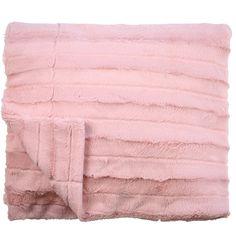 Channel Plush Throw Dusty Pink 125cm x 150cm