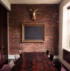 thatkindofwoman:Chalk board room. #deer #chalkboard #board room