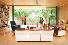 Balcones house living room #architecture
