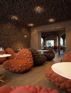 Twister Restaurant, Modern European Decoration Interior Restourant with Brown Style - Modern Home Design Ideas | Iransdesign.com #interior #serghii #design #makhno #restaurant #butenko #sergey #twister