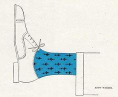 Andy Warhol #shoes #socks