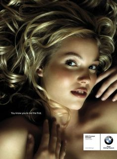 You know you're not the first #crative #girl #bmw #idea #advert #layout #car