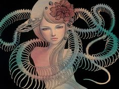 Hi Fructose Magazine | New Contemporary Art Magazine #kawasaki #girl #snake #paint #audrey