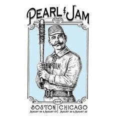 Pearl Jam T-shirt design