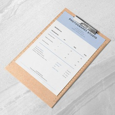 Photography Invoice Printable Invoice Template Invoice | Etsy