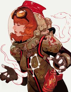 Sachin Teng4 #girl #fi #sci #space #illustration